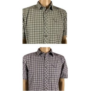 Under Armour Lot of 2 Button Front Plaid Shirts